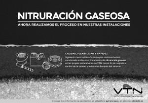 Nitruración gaseosa en VTN